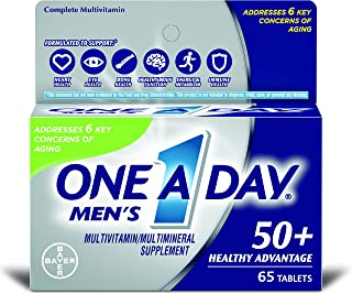 One-A-Day Men's Advantage 50+ Multivitamin 65 ea (Pack of 2)