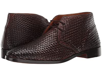 CARLOS by Carlos Santana Piano Chukka Boot (Chocolate Woven Calf Leather) Men