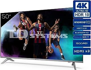 Televisiones Smart TV 50 Pulgadas 4k UHD Android 9.0 y HBBTV, 1500 PCI Hz, 3X HDMI, 2X USB. DVB-T2/C/S2, Modo Hotel - Tele...