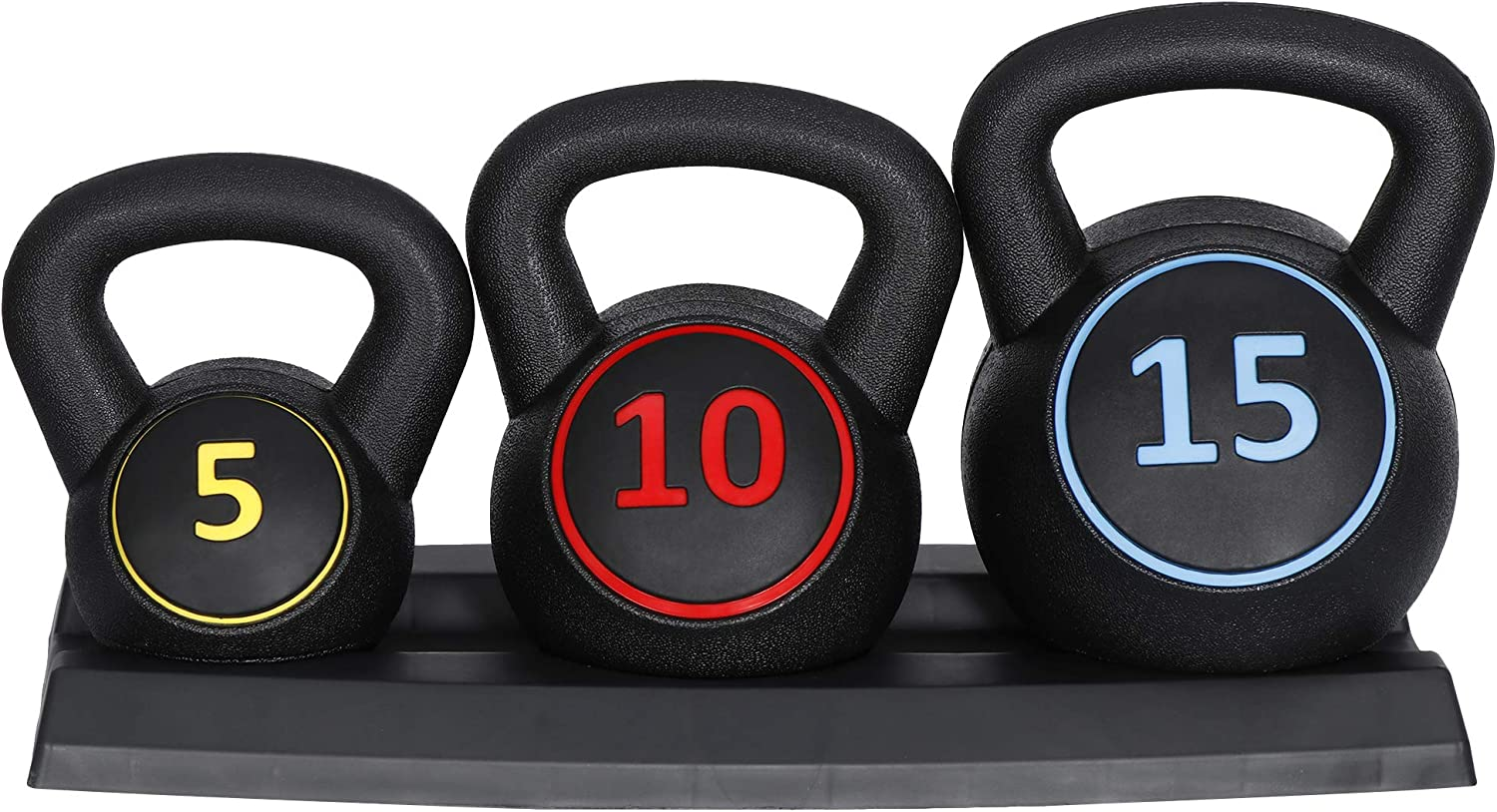 Saturnpower 3-Piece Kettlebell Set Fitness Weight 新作多数 新品 送料無料 Exercise