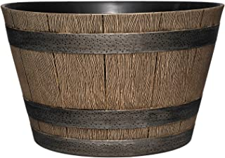 Classic Home and Garden HD1-1027 DisOak Whiskey Barrel, 20.5