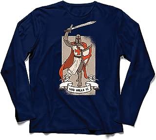 lepni.me Men's T-Shirt God Wills it! The Knight Templar Crusader's Red Cross