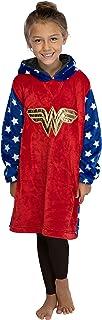 INTIMO DC Comics Justice League Kids Superhero Oversized Sherpa Sweatshirt Lounge Hoodie
