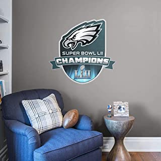 FATHEAD NFL Philadelphia Eagles - Super Bowl LII Champions Logo- Officially Licensed Removable Wall Graphic, Multicolor, Giant - 14-14584