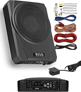 $179 » BOSS Audio Systems BASS10K Amplified Car Subwoofer - Low Profile, 10 Inch Subwoofer, 8 Gauge Amplifier Wiring Kit, Remote ...