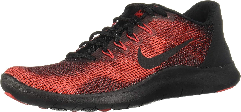 Nike Boy's Flex RN 2018 Running schuhe schwarz University rot Team rot Größe 2.5 M US