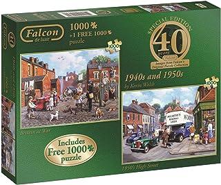 Jumbo - Puzzle 40th Anniversary 1940s and 1950s, 2 x 1000 Piezas (611132)