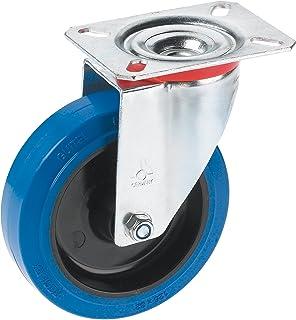 Dörner + helm 711657 zwenkwiel met elastisch wiel en rollager 100 x 36 mm/plaat 100 x 85 mm