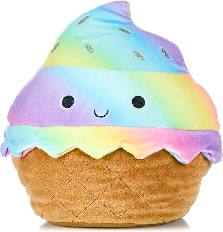 KIDS PREFERRED Cuddle Pal Stuffed Animal Plush Toy, Sweet Treat Ice Cream Cone, 11.5 Inches