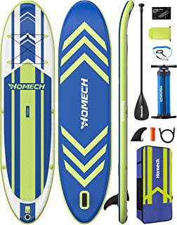 """Homech Stand Up Paddle Board 10'10 × 32"""" × 6"""" All Around SUP Paddleboarding with Dual-Chamber Hand Pump Backpack SUP Racin..."""