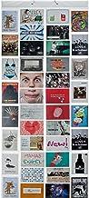Goods & Gadgets Fotovorhang XXL Bildervorhang Photo-Vorhang mit 40 Taschen für 80 10 x 15 cm Fotos Postkarten Motivkarten - Duschvorhang Fotogalerie; Milchig-Photoshop-Optik