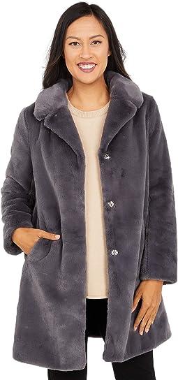 Chris Faux Fur Button Front Coat
