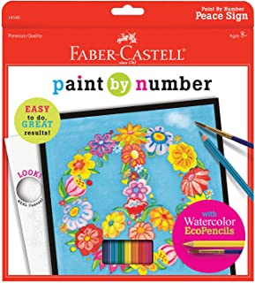 Faber-Castell Paint By Number Peace Kit - Watercolor Paint by Number for Kids