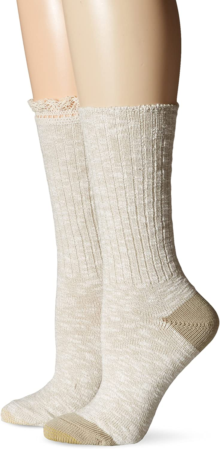 Gold Toe Women's Marl Lace Boot Sock 2-Pack