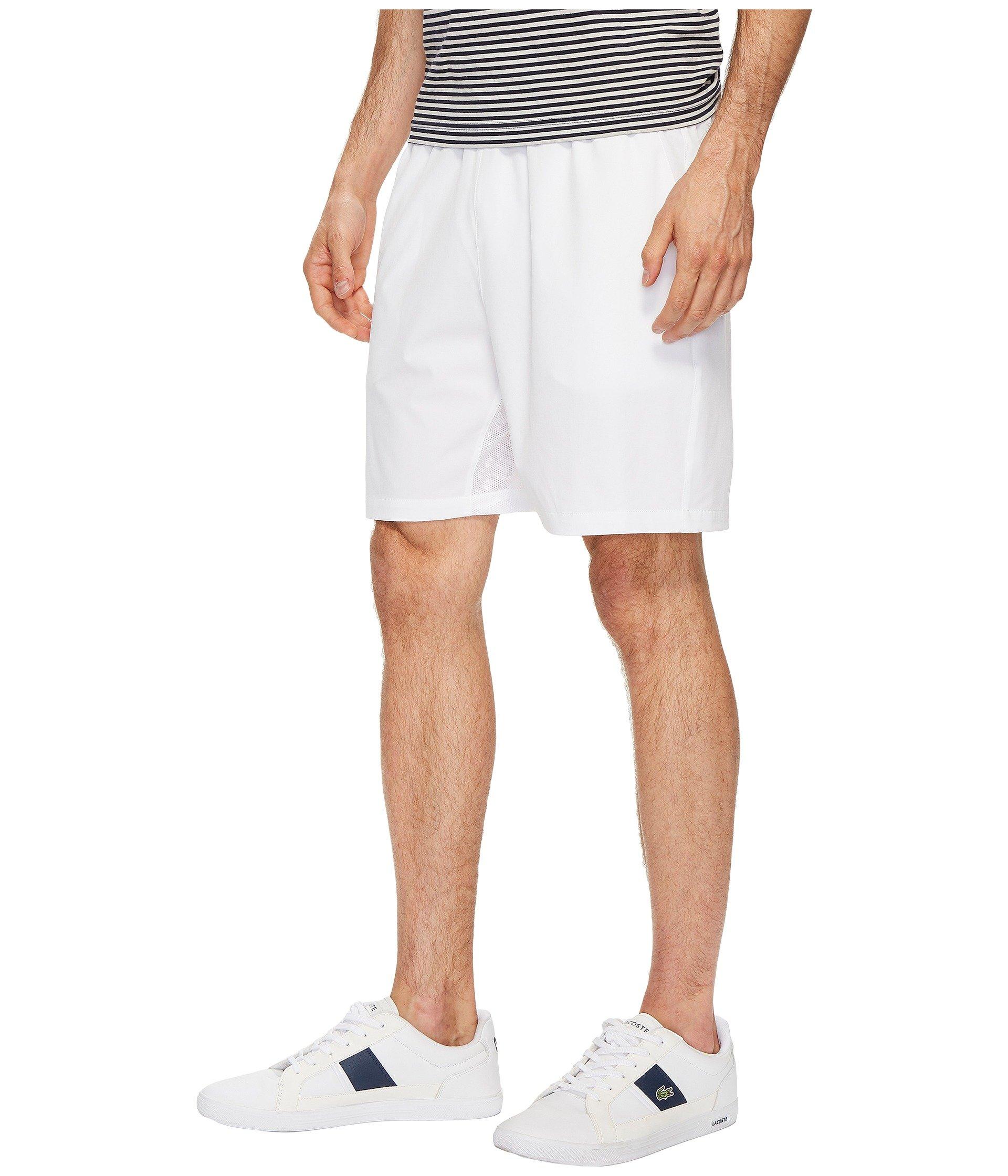 White Lacoste Stretch Lacoste Taffeta Stretch Shorts ncRTWBxcF