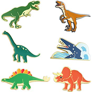 Nuevo Pin de Solapa Dinosaurio Brontosaurio Velociraptor Stegosaurus T-Rex triceatops