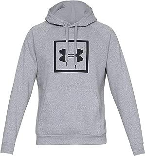 Under Armour Erkek Rival Fleece Logo Kapüşonlu Üst, Steel Light Heather/Black (Gri), XS (X-S) Beden