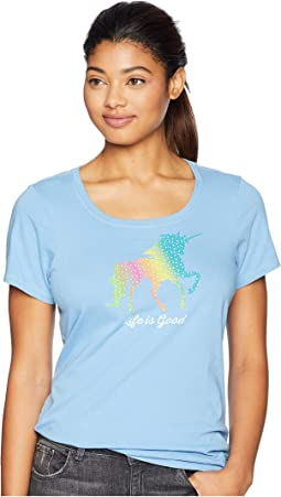 Rainbow Unicorn Crusher Scoop Neck T-Shirt