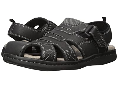 Dockers Searose Fisherman Sandal (Black) Men