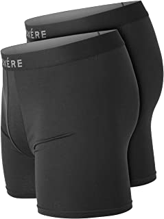 Mens Boxers Underwear Multipack - 2 Pack Ultra Comfy Boxer Briefs Shorts - Crafted From Modal for a Soft Feel and Anti Cha...