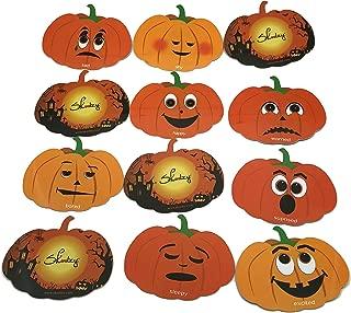 Skoolzy Educational Halloween Games for Kids - Jack-O-Lantern Pumpkin Memory Matching Game Cards 24 Emotional Intelligence Flashcards - Helps Children Identify Their Feelings & Emotions