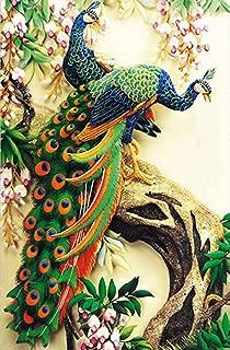 5d diamond painting peacock