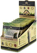King Palm Hand Rolled Leaf Wrap Rolls - 5 Rolls/Pouch - 15 Pouch Display Box - (Rollies)