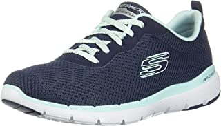 Skechers Australia Flex Appeal 3.0 First in Sight Women's Training Shoe, Navy Aqua, 7.5 US