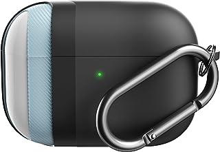 KeyBudz Etui AirPods Pro z brelokiem hybrydowa seria Shell kompatybilna z AirPod Pro obudowa obudowa (czarna)