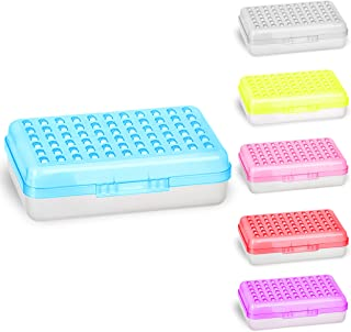 Pencil Box Blue, Plastic Small Dots Pencil Case, School Storage Utility Supplies Box Organizer with Snap Closure for Kids and Adults Also Available in Pink, Grey, Purple, Red, Green, 1 PK - By Enday