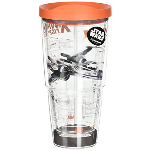 0b46e30017e Tervis Star Wars Force Awakens X Wing Schematic Tumbler with Travel Lid, 24  oz,