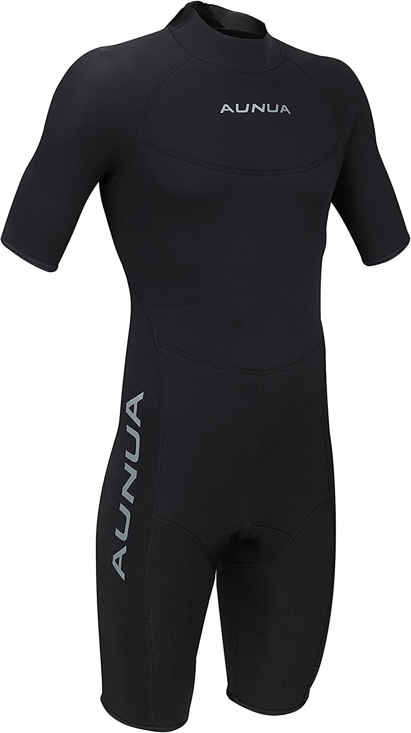 Aunua Men's 3mm Premium Neoprene Shorty Wetsuits Canoeing Diving Suit