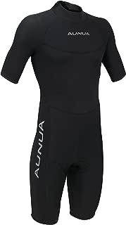 Aunua Men's 3mm Premium Neoprene Shorty Wetsuits Canoeing Diving Suit