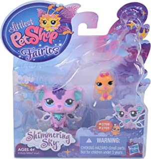 Littlest Pet Shop, Fairies, Shimmering Sky Figures, Sprinkle Fog Fairy and Humming Bird #2708 and 2709, 2-Pack