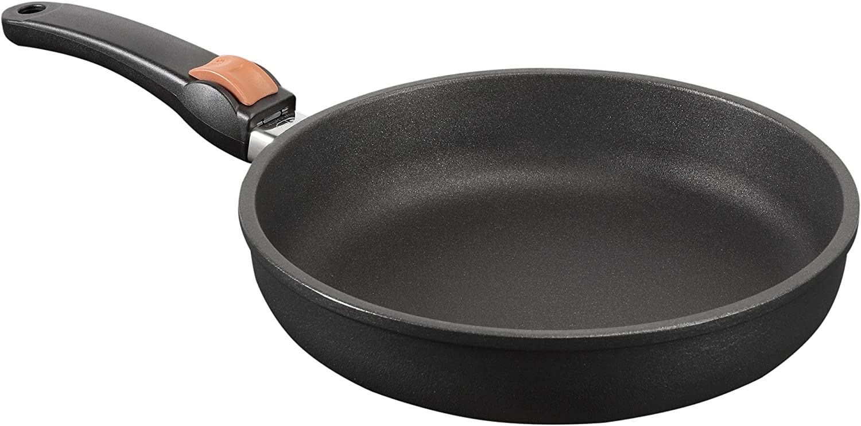 SKK 5204 Titanium 2000 Plus - Sartén (hierro fundido, 20 cm de diámetro, borde alto, mango extraíble, apta para horno, fabricado en Alemania)