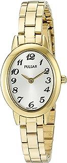 Pulsar gold-toned de cuarzo para mujer vestido reloj (Modelo