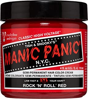 Manic Panic Semi Permanent Hair Color Cream Rock 'N' Roll Red, 4oz