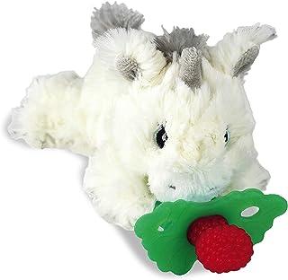 RaZbaby RaZbuddy RaZberry Teether/Pacifier Holder w/Removable Baby Teether Toy - 0M+ - Bpa Free - Unicorn