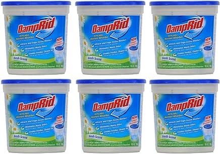 DampRid Damprid moisture absorber fresh scent, 10.5oz (pack of 6), white, 10.5 Ounce