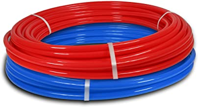 Pexflow PXKT-RB10012 PEX Potable Water Tubing Combo Non-Barrier Pipe for Residential or Commercial, 1/2 Inch x 100 Feet (1 Red + 1 Blue)