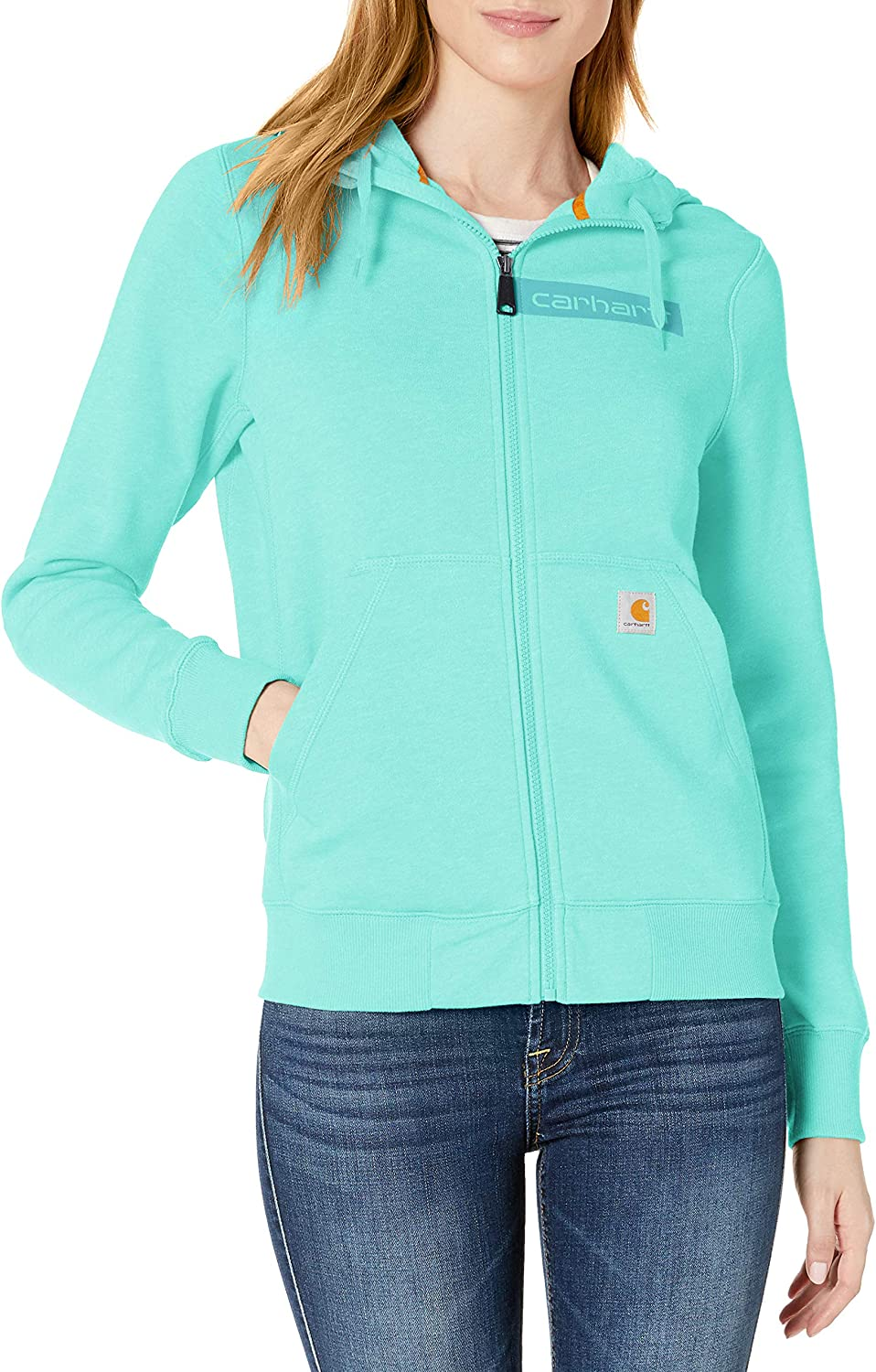 E1-2786 Carhartt Womens Force Extremes Zip Front Sweatshirt SMALL