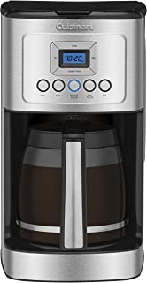 Cuisinart DCC-3200P1 DCC-3200 Glass Carafe Handle Programmable Coffeemaker, 14 Cup Stainless Steel