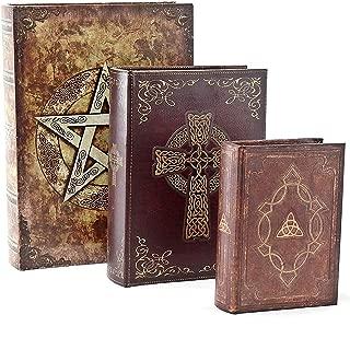 Bellaa 27994 Celtic Book Box Secret Storage Safe Set of 3