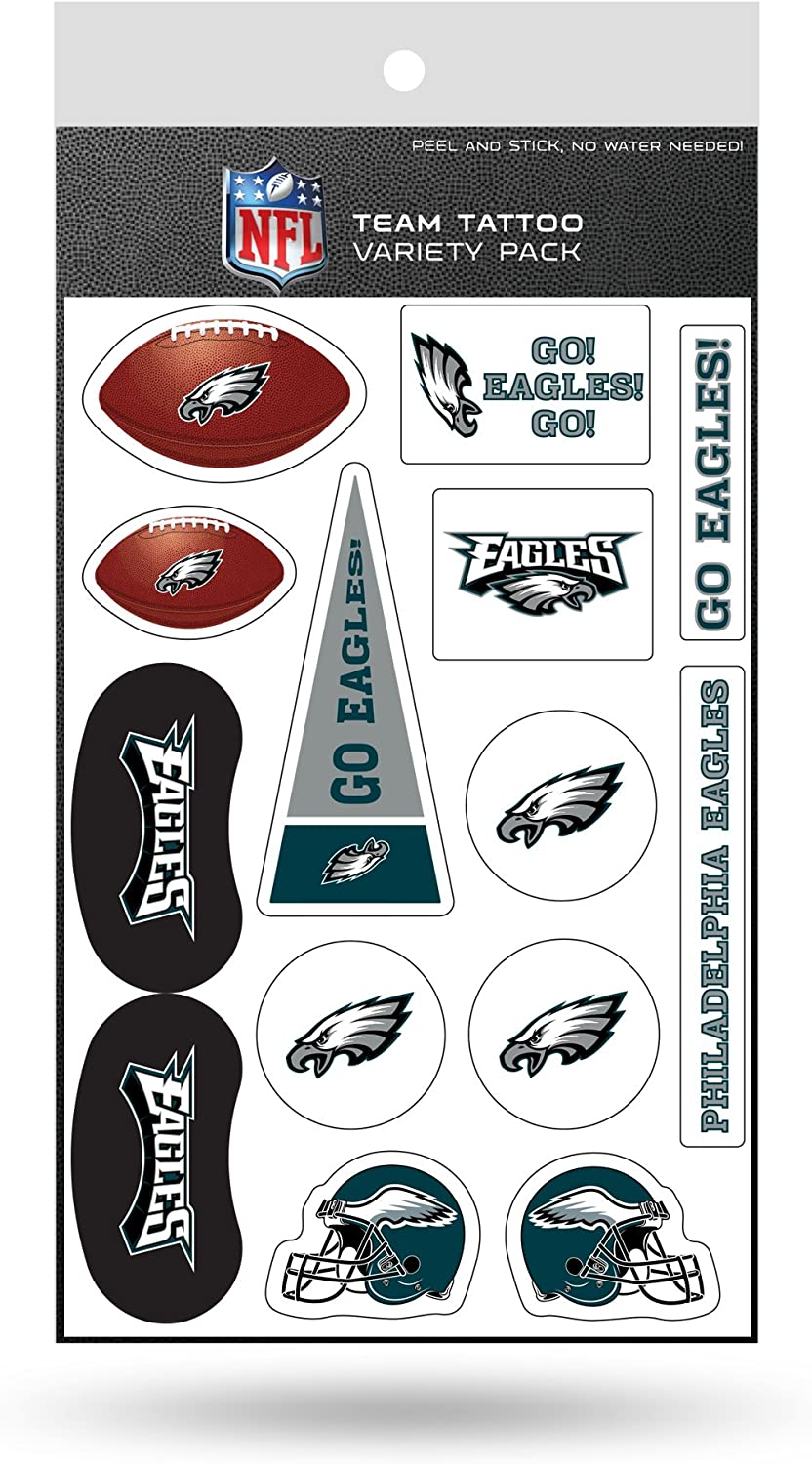 NFL Philadelphia Eagles Tattoo Variety Pack