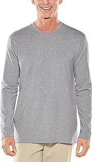 Coolibar UPF 50+ Men's Morada Everyday Long Sleeve V-Neck T-Shirt - Sun Protective