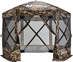 MasterCanopy Escape Shelter, 6-Sided Canopy Portable Pop up Gazebo Durable Screen Tent Bug and Rain Protection (6-8 Person),Camouflage