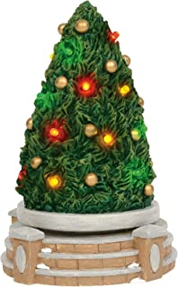 Department 56 Village Collections Accessories Lit Rotating Festive Tree Figurine, 7.25