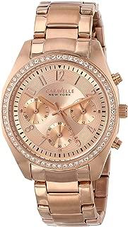 Caravelle New York Women's 44L117  Swarovski Crystal Rose Gold Tone Watch