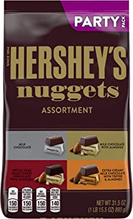 Hershey's Nuggets Halloween Candy, Assorted Chocolate, Bulk Party Bag, 31.5 Oz