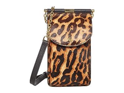 LAUREN Ralph Lauren Phone Bag Crossbody Mini (Leopard) Cross Body Handbags